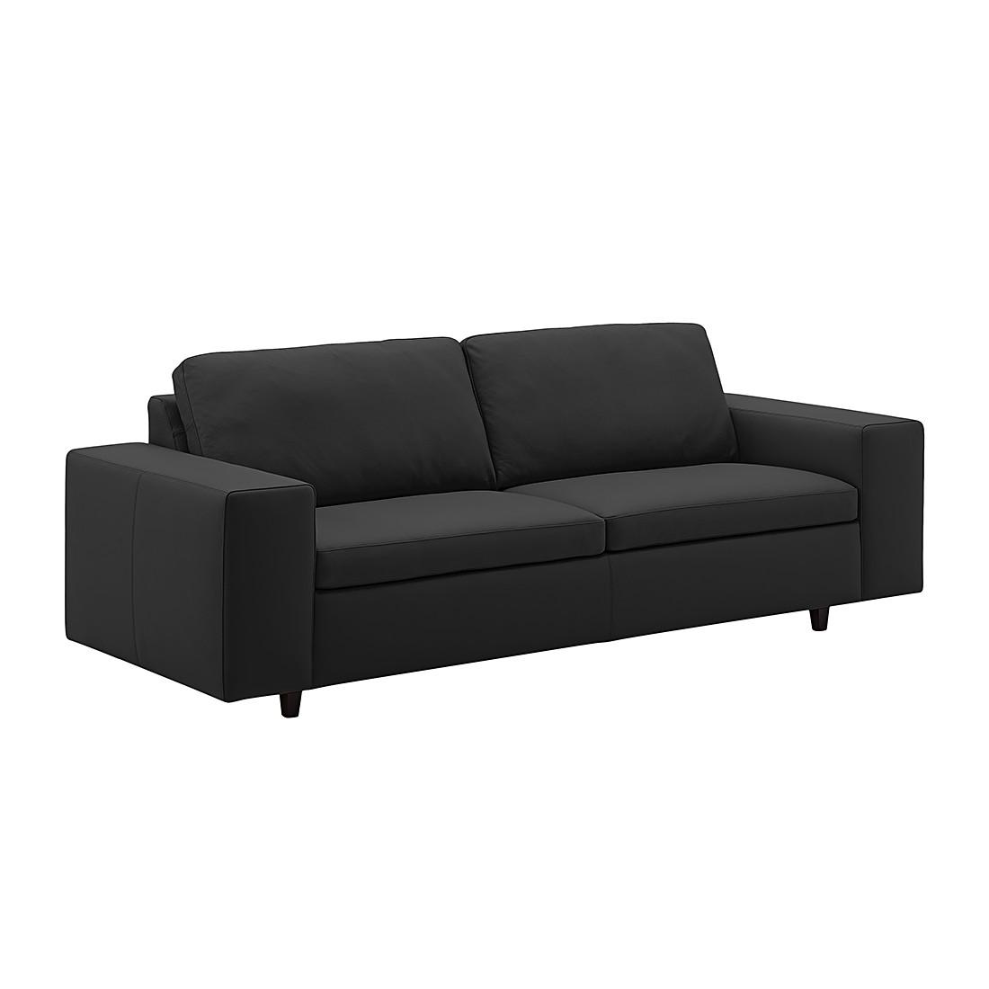 Sofa Wega (3-Sitzer) - Echtleder - Schwarz, Machalke Polsterwerkstätten