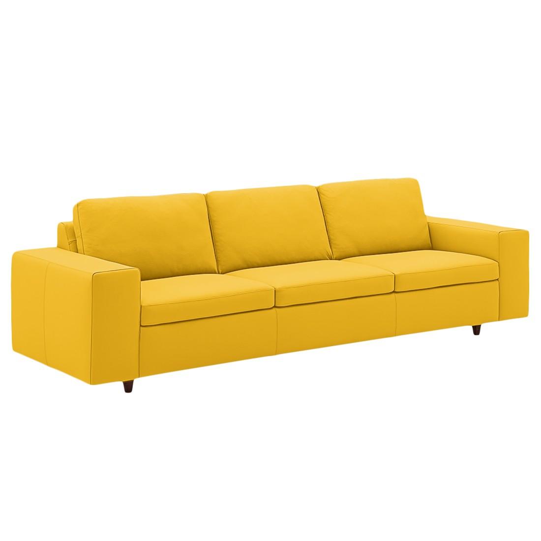 Sofa Wega (4-Sitzer) - Echtleder - Maisgelb, Machalke Polsterwerkstätten