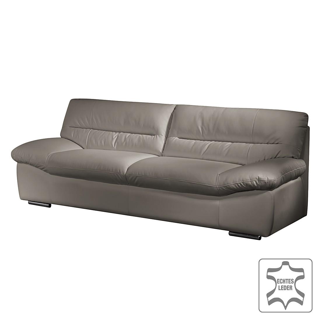 Sofa Doug (3-Sitzer) - Echtleder Hellgrau, Cotta