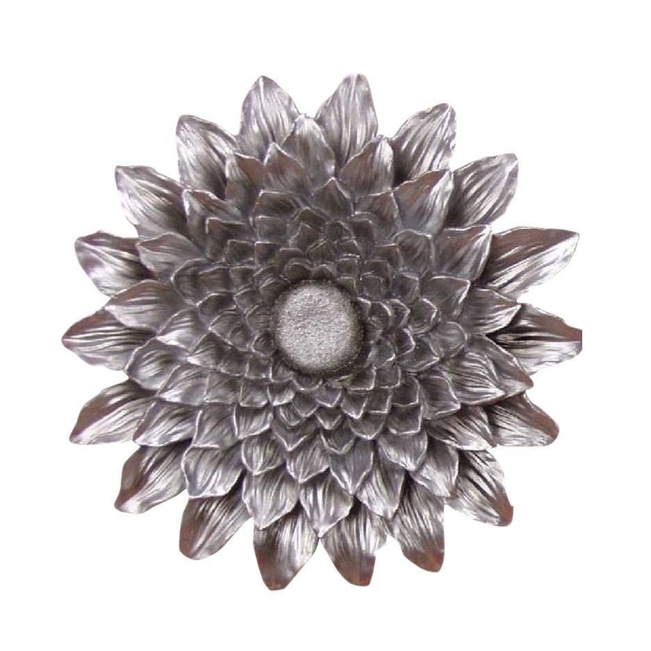 Sonnenblume Wandrelief – silber, Home Design günstig