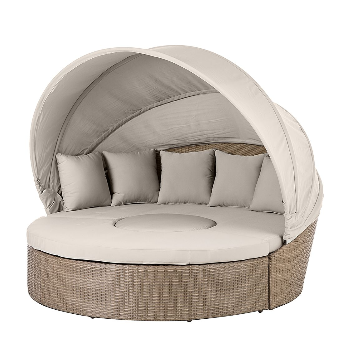 Sonneninsel Rattanesco Puca (3-teilig) - aus Polyrattan - in Braun, Kings Garden