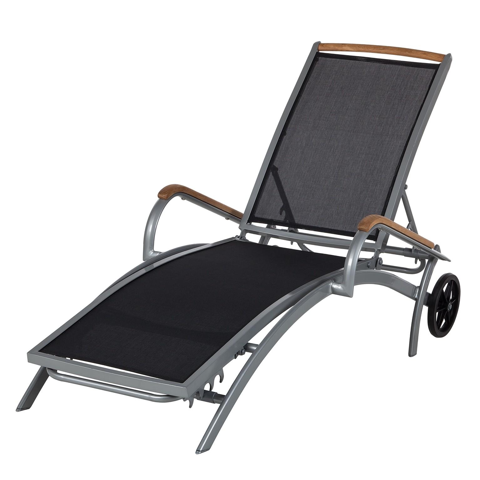 sonnenliege solidus varu aluminium textilene silber. Black Bedroom Furniture Sets. Home Design Ideas