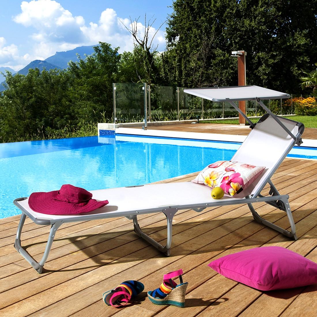 sonnenstuhl summer sun mit sonnendach gartenliege sonnenliege kippliege liege ebay. Black Bedroom Furniture Sets. Home Design Ideas