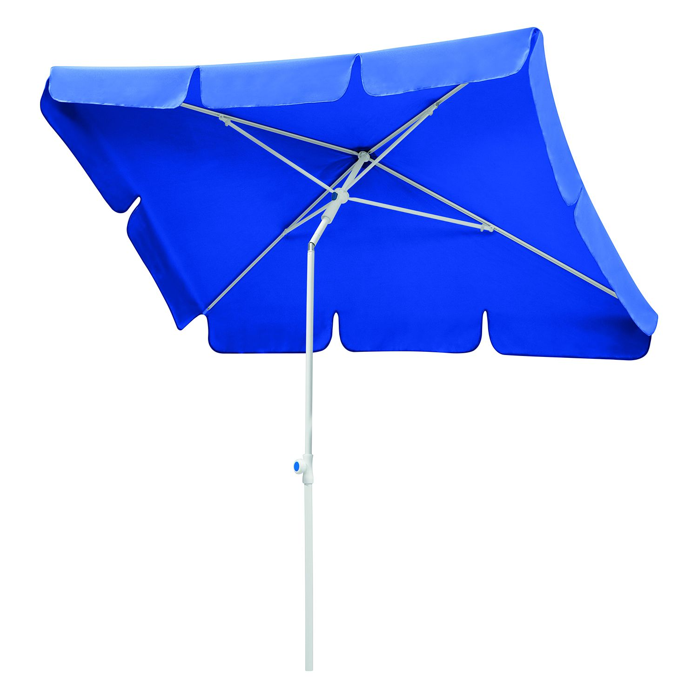 Sonnenschirm Ibiza - Stahl/Polyester - Weiß/Blau - 180 x 120 cm, Schneider Schirme