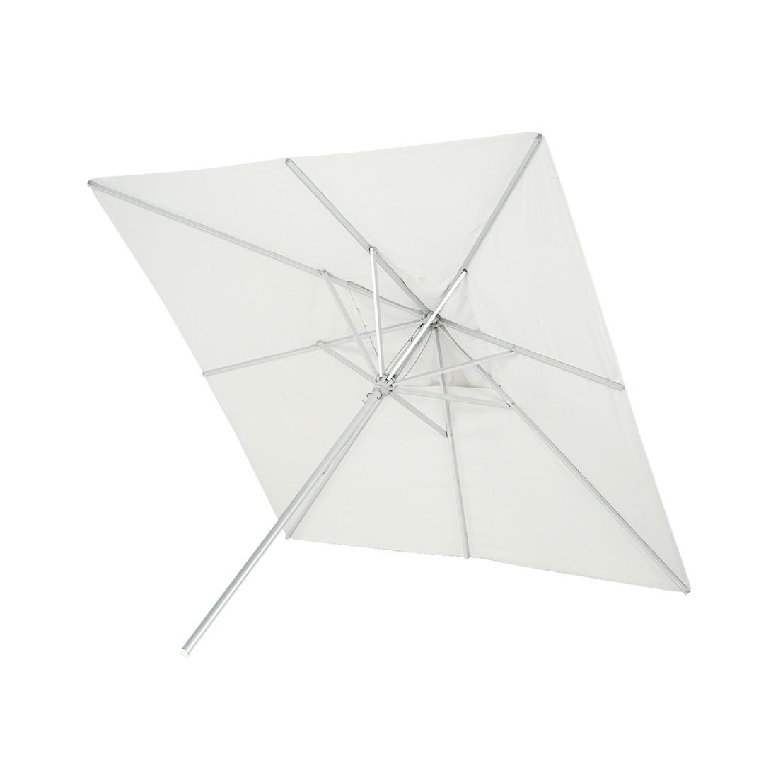 Sonnenschirm Messina Alu quadratisch - Aluminium Naturweiß, Skagerak
