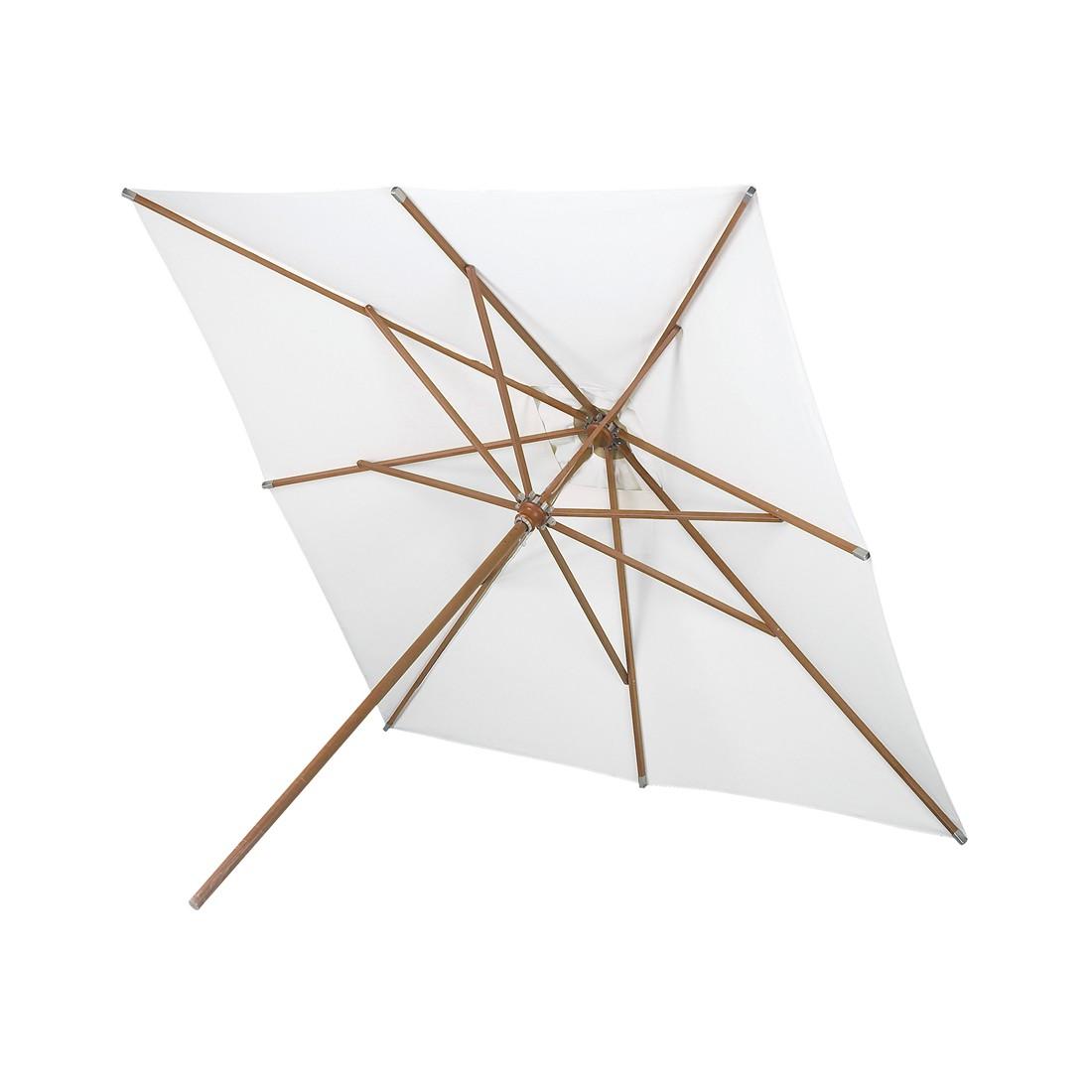 Sonnenschirm Messina Holz quadratisch - Meranti-Holz Naturweiß, Skagerak