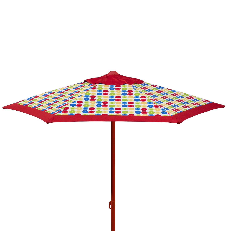 Sonnenschirm Puntito - Webstoff - Rot, Schneider Schirme