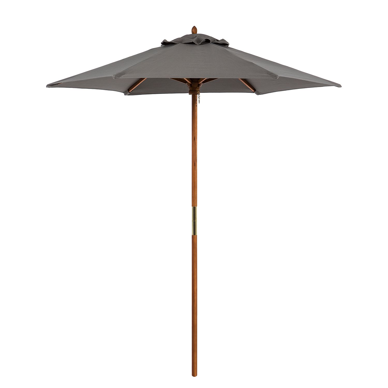 Sonnenschirm Sombrilla - Grau - Ø: 200cm, Silva Outdoor