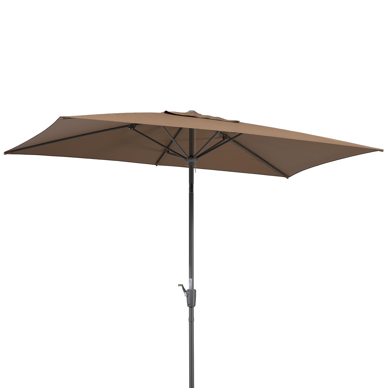 Sonnenschirm Tunis - Webstoff / Stahl - Nougat, Schneider Schirme
