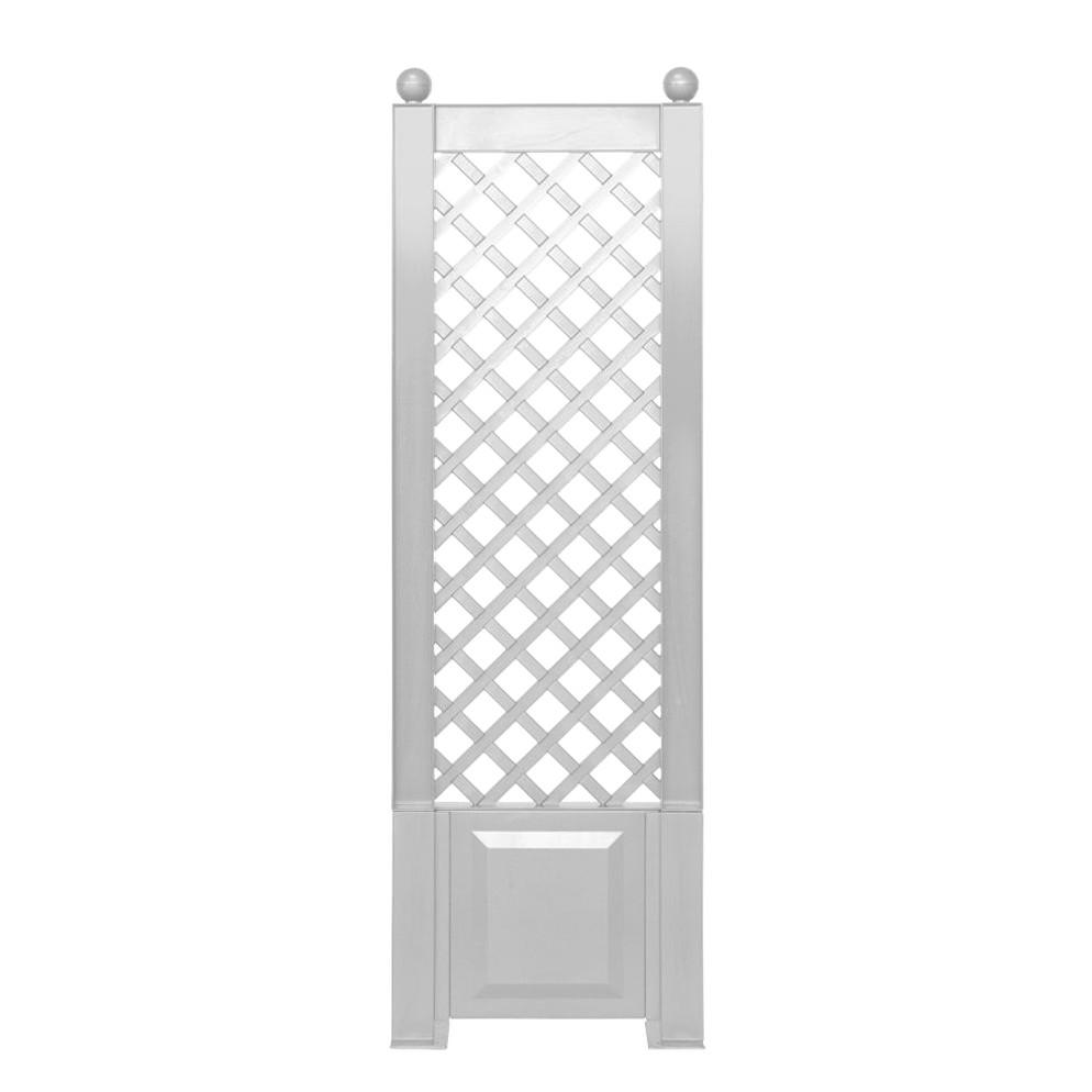 Spalier Florana – Schmal – mit Erdspieß – Kunststoff Weiß – 1er-Set, Khw bestellen