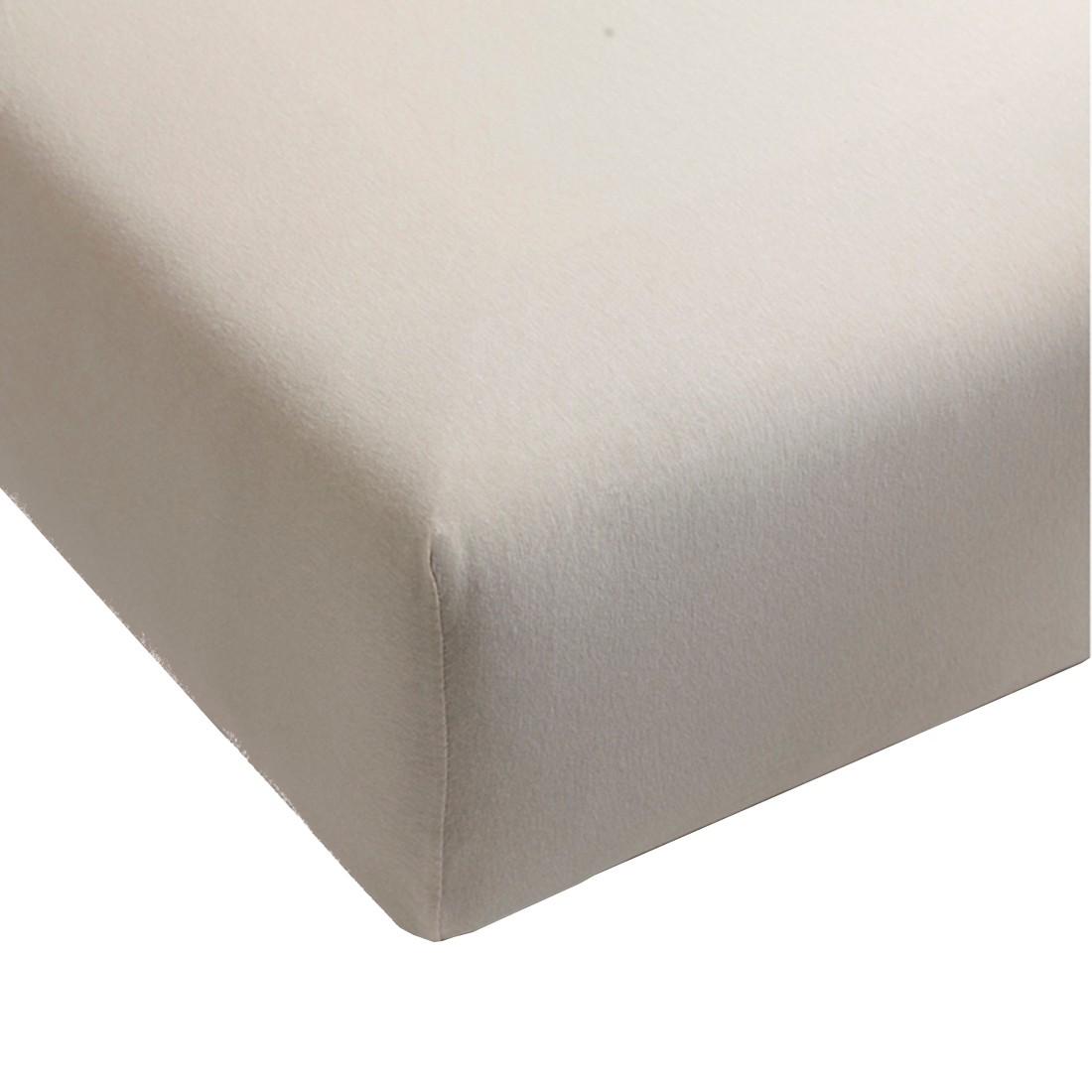 Spannbettlaken Jersey – Sand – Baumwolle – Abmessungen 200x90x35cm, BH jetzt kaufen