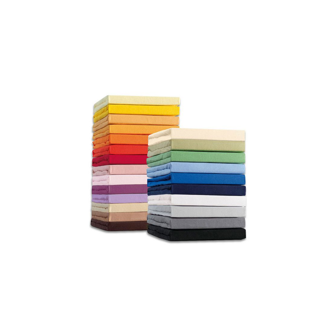 Spannbetttuch – Baumwolle/Elasthan – Aqua – 90×190 – 100×220 cm, Schlafgut günstig kaufen