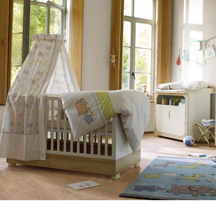 sparset natural harmony 2 teilig babybett wickelkommode wei s desche. Black Bedroom Furniture Sets. Home Design Ideas
