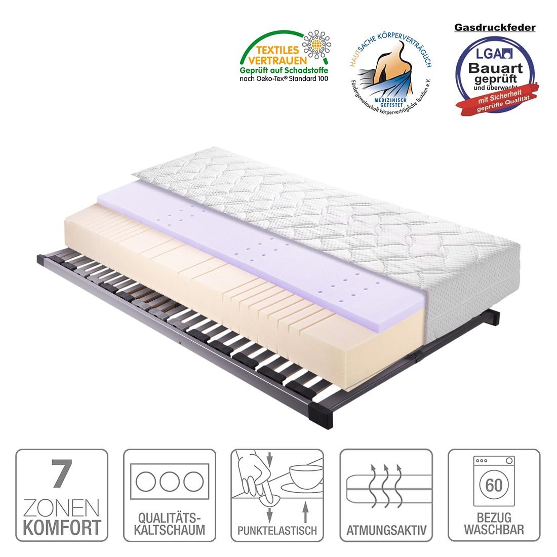 Sparset Sleep Gel 1 – Kaltschaummatratze & Lattenrost Silver (nicht verstellbar) – 90 x 200cm – H3 ab 80 kg, Breckle online bestellen