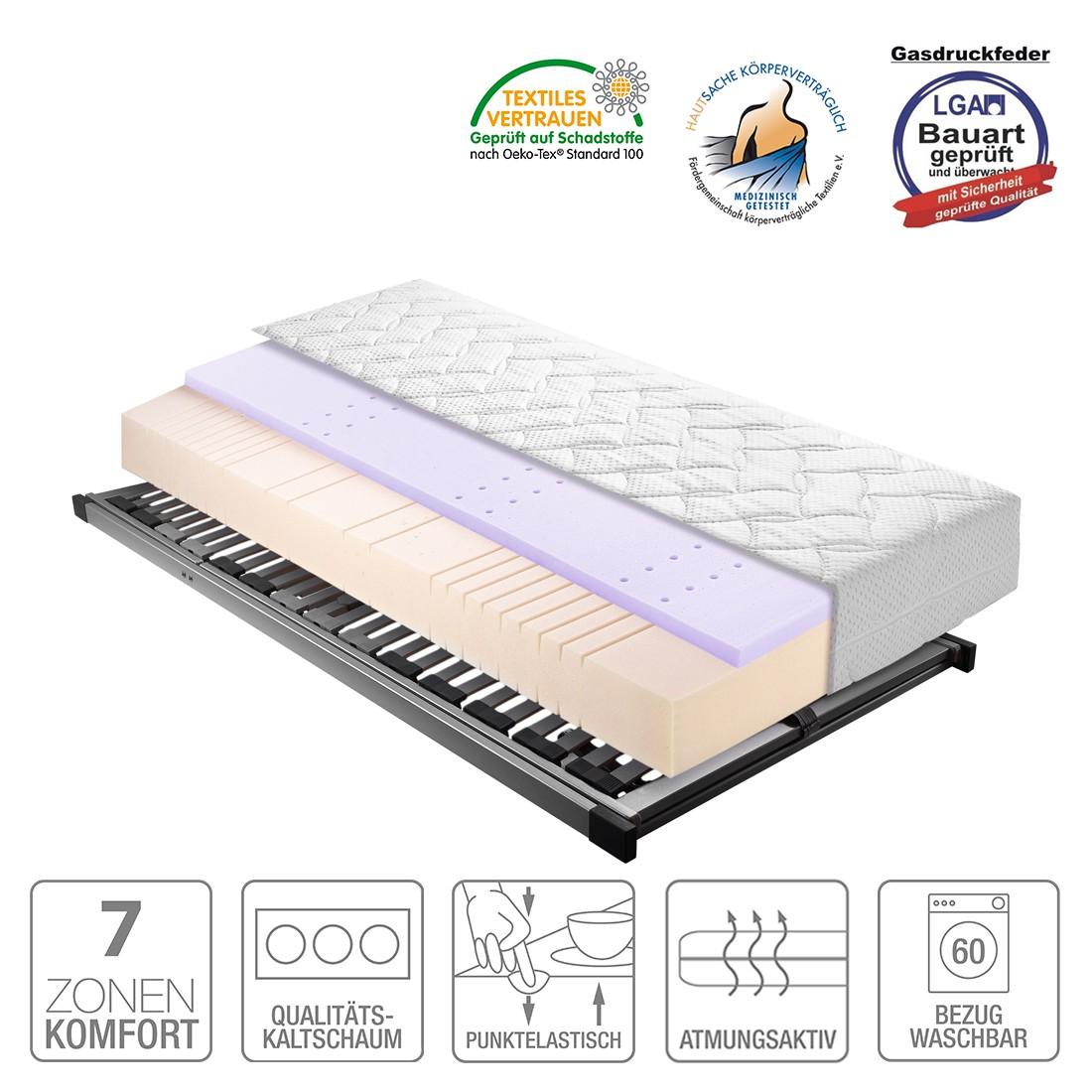 Sparset Sleep Gel 1 – Kaltschaummatratze & Lattenrost Silver (verstellbar) – 140 x 200cm – H3 ab 80 kg, Breckle jetzt bestellen