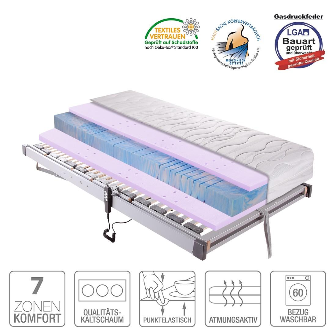 Sparset Sleep Gel 3 – Kaltschaummatratze & Lattenrost Silver (elektrisch verstellbar) – 80 x 200cm – H2 bis 80 kg, Breckle online kaufen