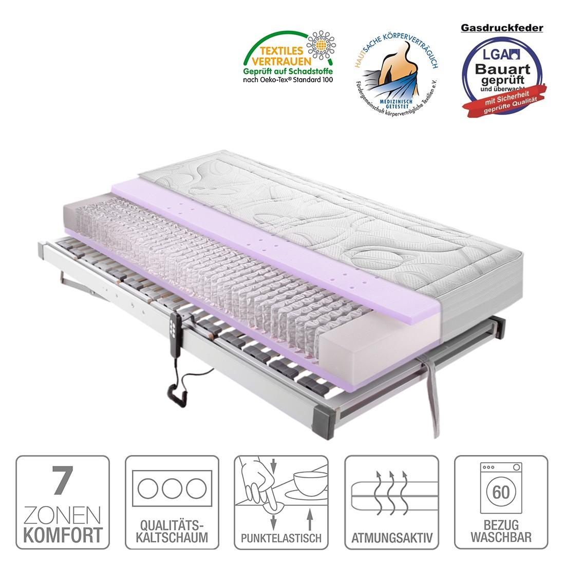 Sparset Sleep Gel 4 – Taschfederkernmatratze & Lattenrost Silver (elektrisch verstellbar) – 120 x 200cm – H2 bis 80 kg, Breckle online kaufen