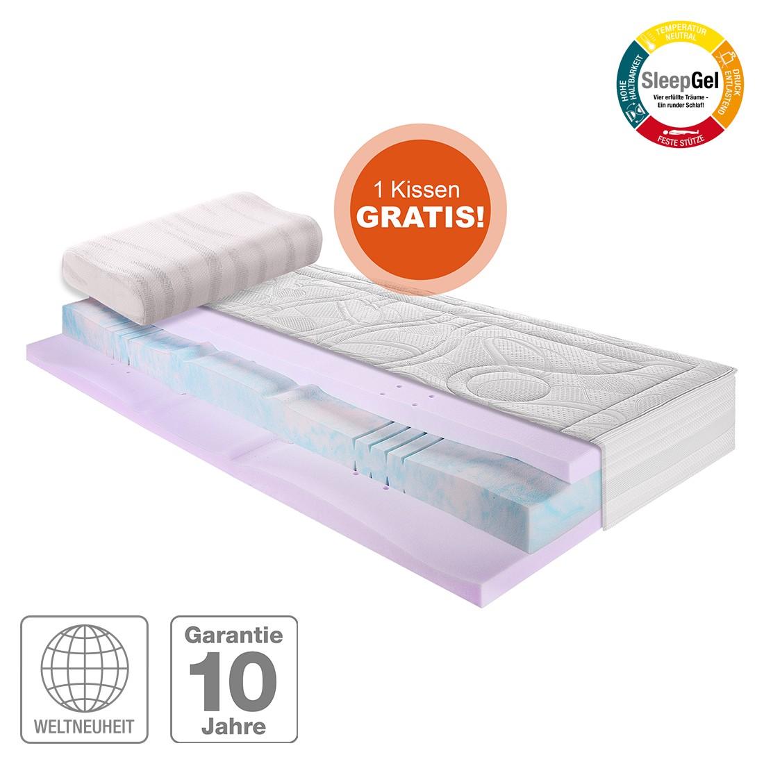 Sparset Sleep Gel 5 (inklusive Nackenstützkissen) – Kaltschaum Gel Matratze – 90 x 200cm – H3 ab 80 kg, Breckle online kaufen