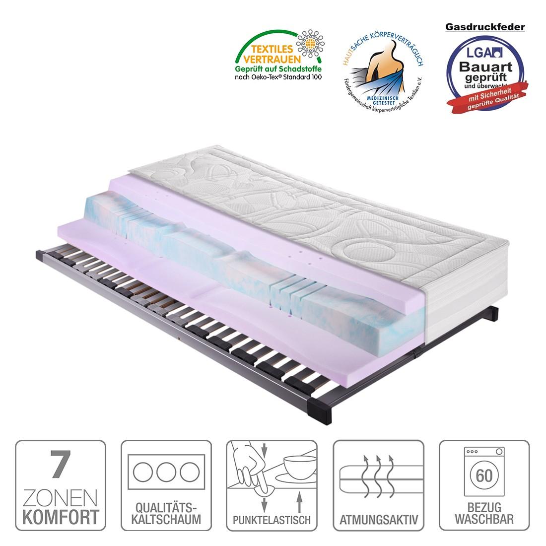 Sparset Sleep Gel 5 – Kaltschaummatratze & Lattenrost Silver (nicht verstellbar) – 90 x 200cm – H2 bis 80 kg, Breckle günstig bestellen