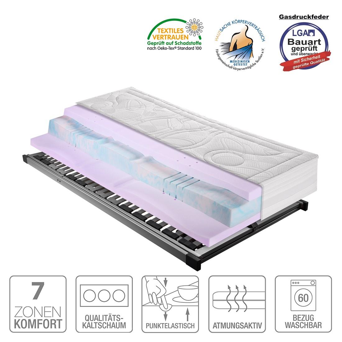 Sparset Sleep Gel 5 – Kaltschaummatratze & Lattenrost Silver (verstellbar) – 80 x 200cm – H2 bis 80 kg, Breckle kaufen