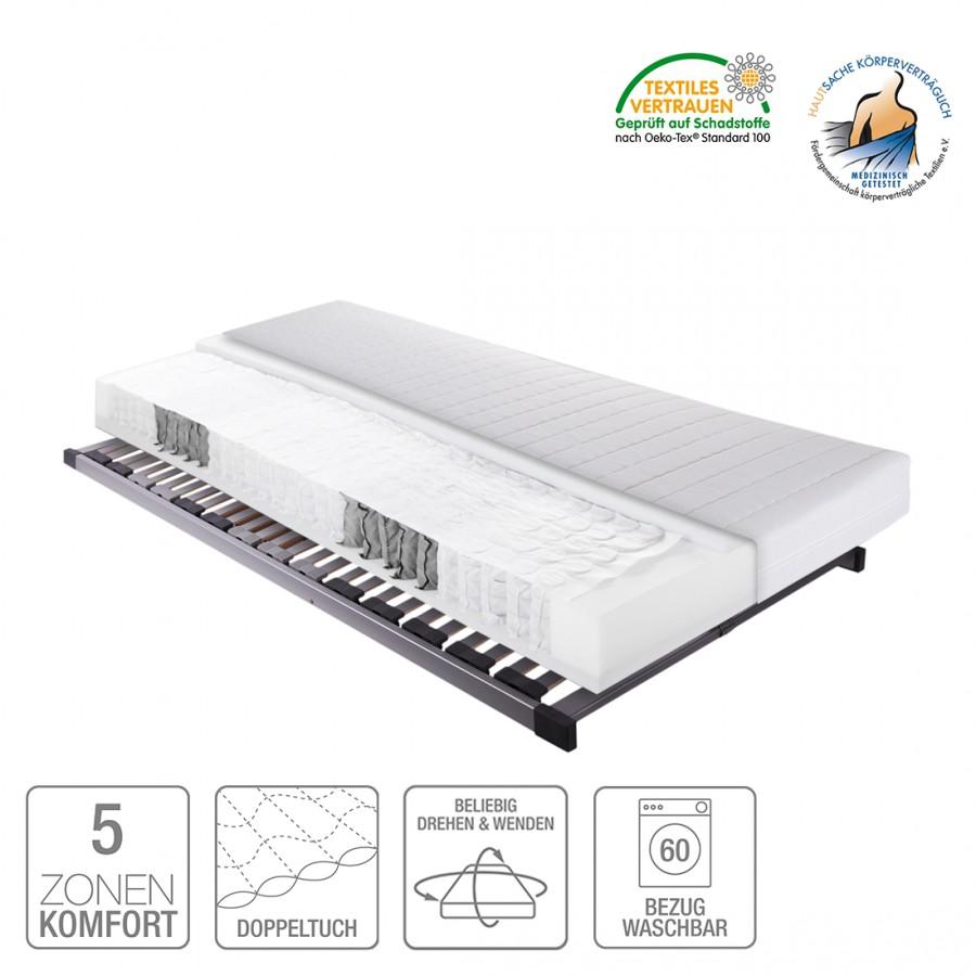 Sparset Sun Express – Tonnentaschenfederkernmatratze & Lattenrost Silver (nicht verstellbar) – 100 x 200cm, Breckle günstig bestellen