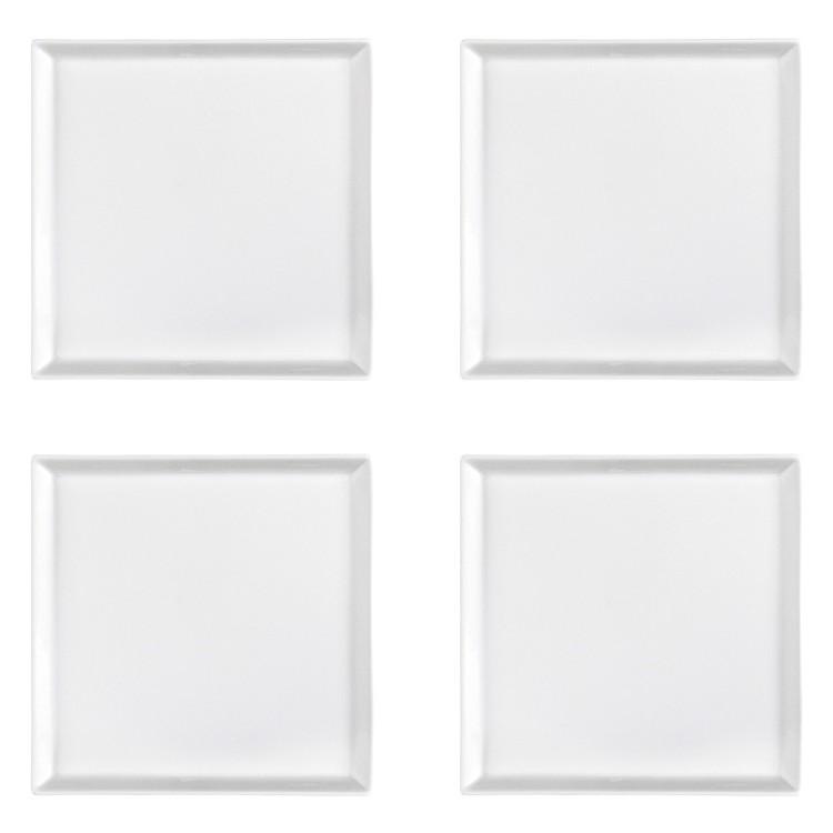 Speiseteller 25 x 25 cm 4 tlg. – Porzellan Weiß, Aida günstig kaufen