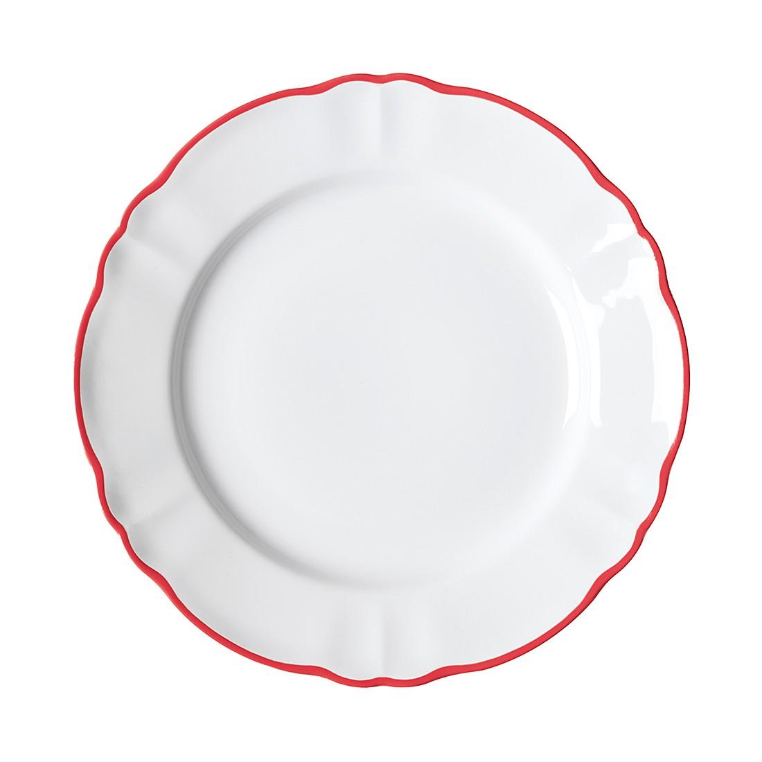 Speiseteller Parisienne 6er Set Porzellan Rot