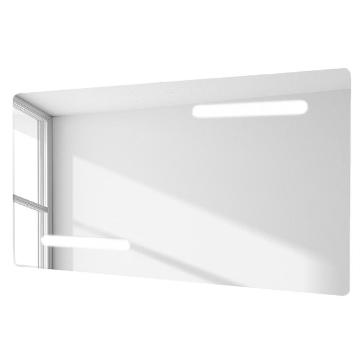 Spiegel Aspina – von hinten beleuchtet – im Querformat mit abgerundeten Kanten und integrierter Rasierersteckdose, Rene Bugil günstig kaufen