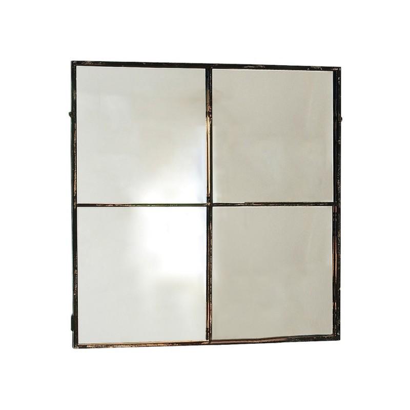 Spiegel Bath – Rahmen: Schmiedeeisen, Spiegelglas schwarz, Loberon online bestellen