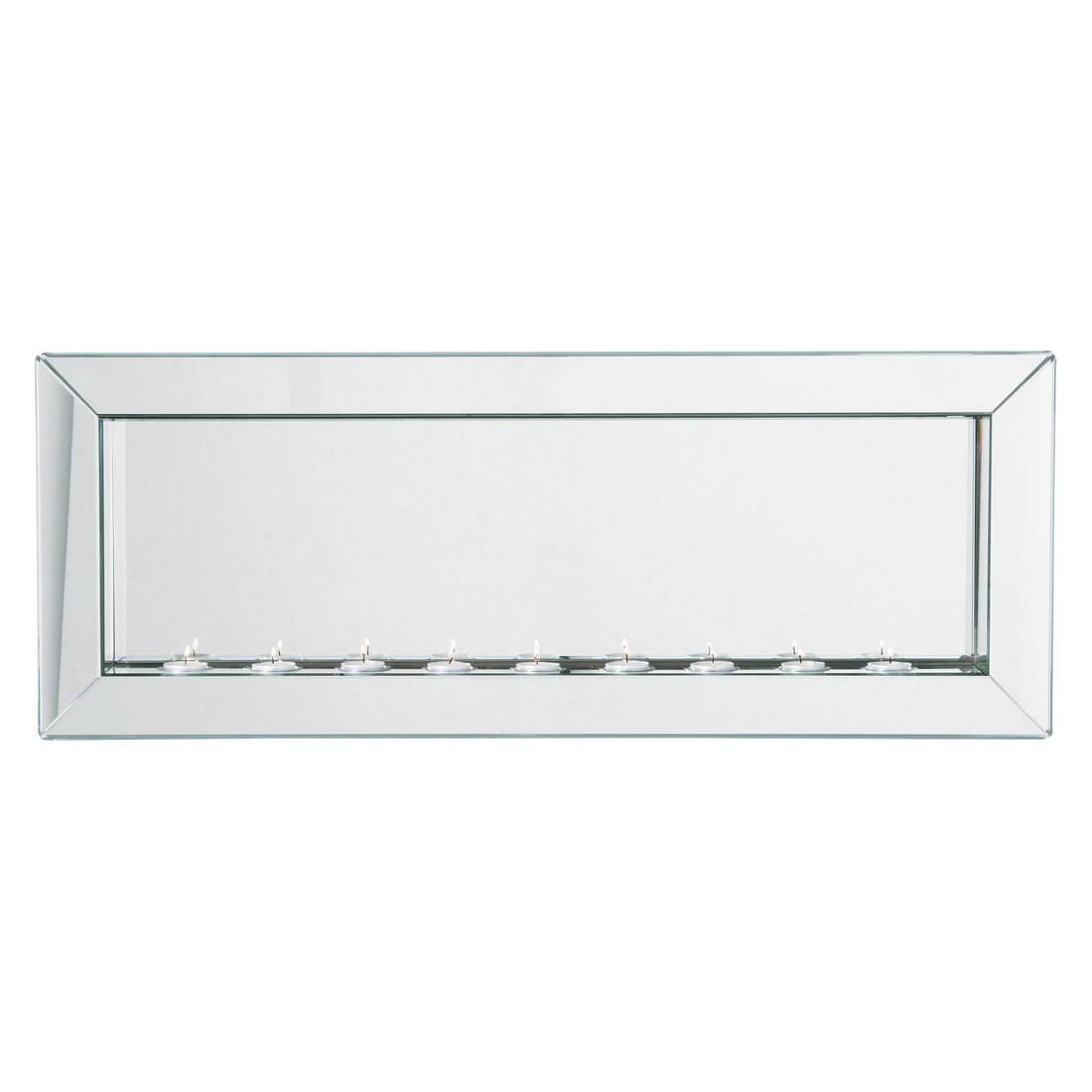 Spiegel Big Beauty Candle Light 90 x 35 cm – Spiegelglas – MDF Grau, Kare Design günstig