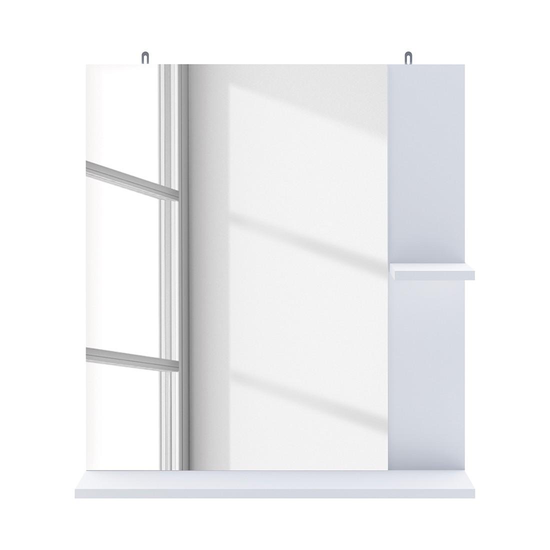 Specchio contenitore bagno bianco ad angolo prezzo e - Specchio bianco ...