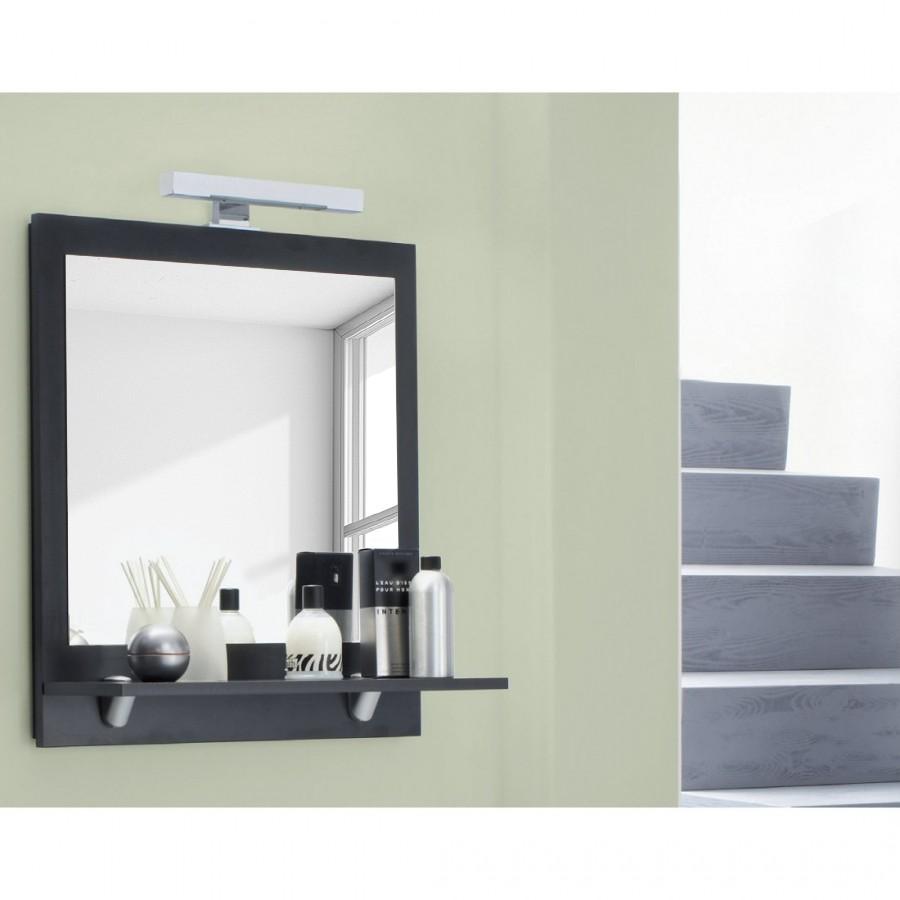 Spiegel Fontana – mit Holzablageboden in Walnuss-Nachbildung, Aqua Suite jetzt bestellen
