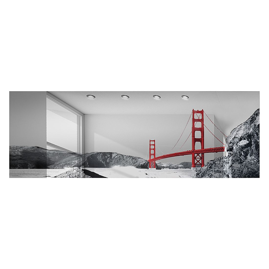 Spiegel Golden Gate Bridge – 120 x 40 cm, mooved jetzt kaufen