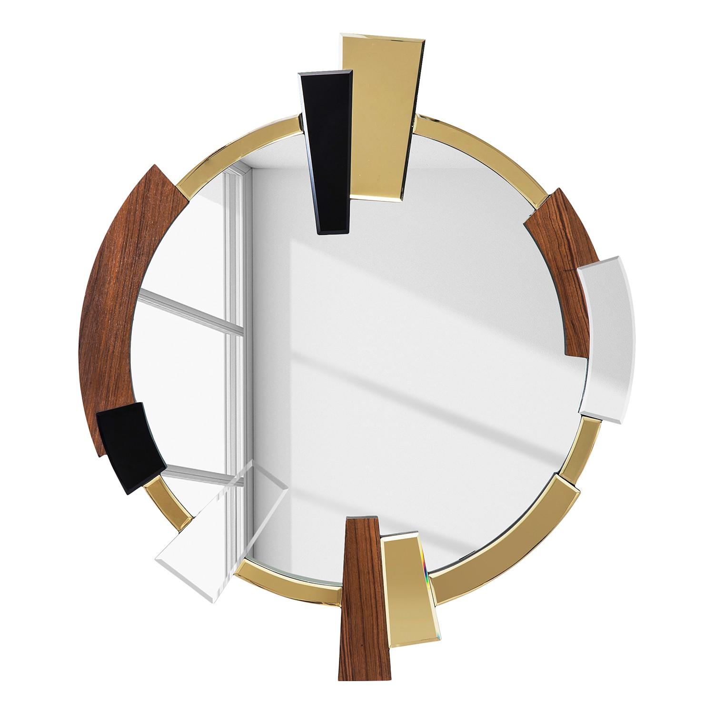 details zu kare design spiegel mountain chic rund holz. Black Bedroom Furniture Sets. Home Design Ideas