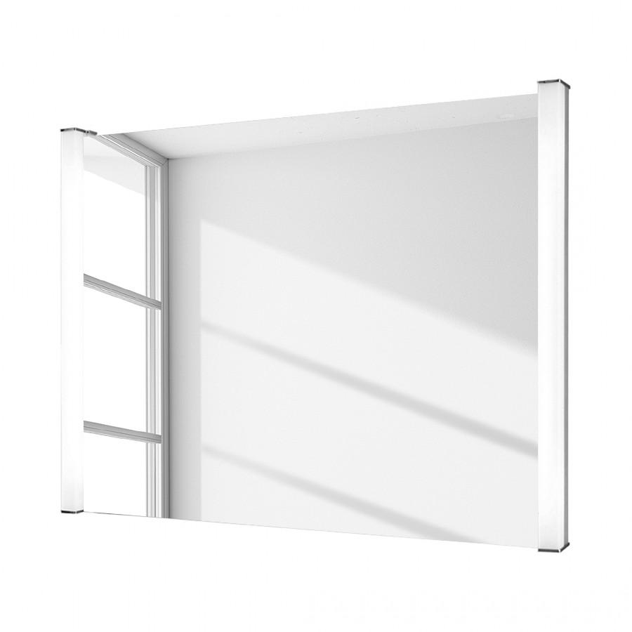 Spiegel Theo – beschlagfrei, von hinten beleuchtet, beheizt – im Querformat mit vertikaler Leuchtstoffröhre, Rene Bugil online bestellen