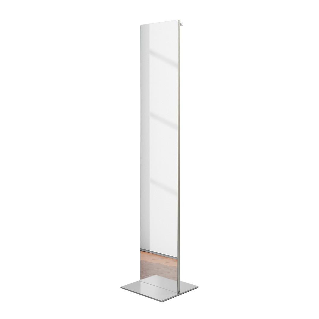 Spiegelgarderobe Sessnam – Silber – Mit fünf Kleiderhaken, Salmerno Design kaufen