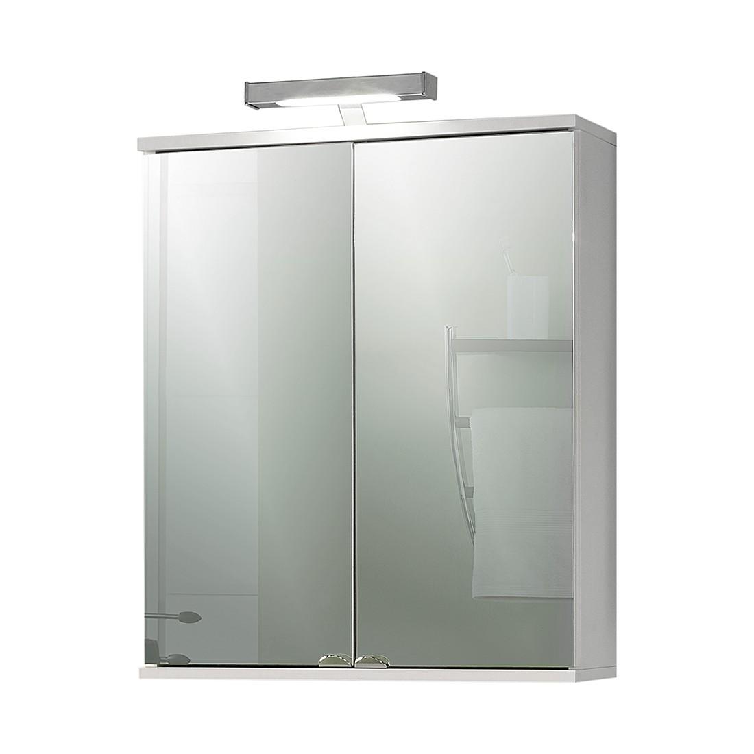 spiegelschrank welnezz mit led beleuchtung weiss perl giessbach kaufen. Black Bedroom Furniture Sets. Home Design Ideas