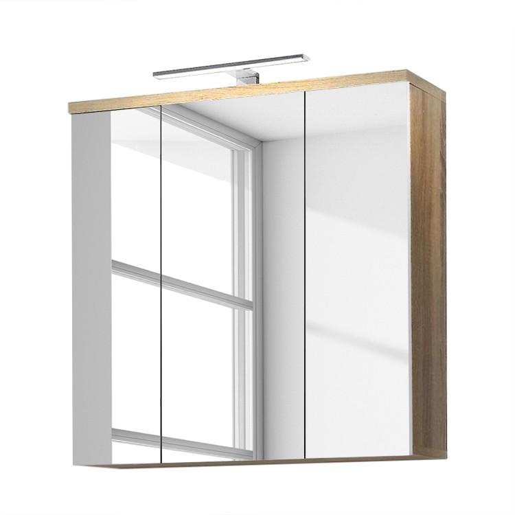 Spiegelschrank I Auctor – Sonoma Eiche/Weiß, Giessbach bestellen