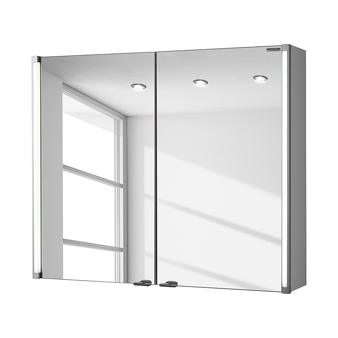 EEK A+, Spiegelschrank LED-Line - Weiß - 80 cm, Fackelmann