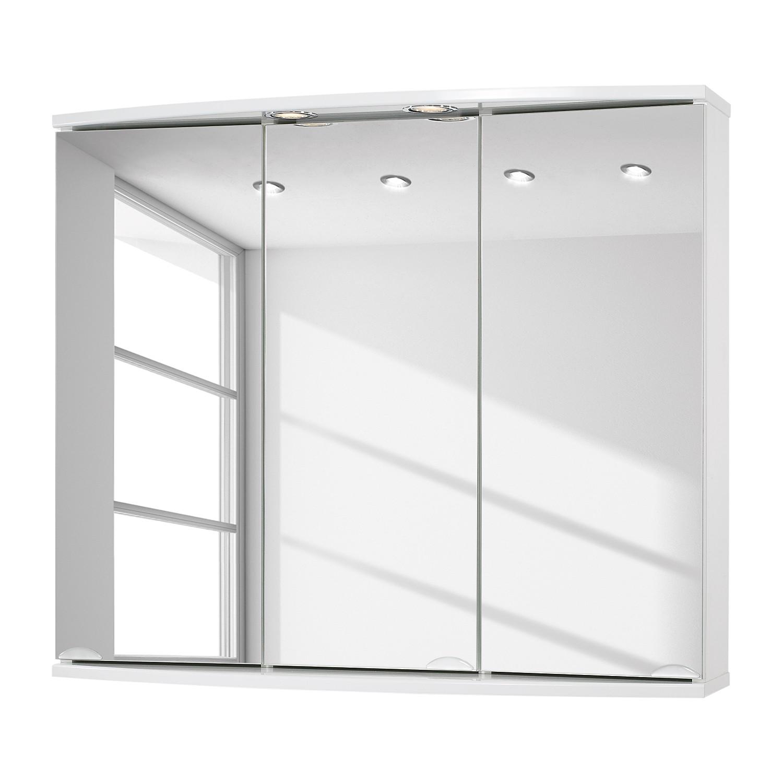 EEK A+, Spiegelschrank Modena (inkl. LED-Beleuchtung) - Weiß, Sieper