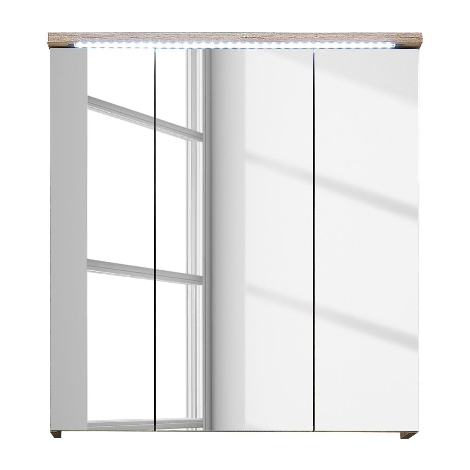 spiegelschrank morson inkl beleuchtung badschrank spiegel badezimmer bad ebay. Black Bedroom Furniture Sets. Home Design Ideas