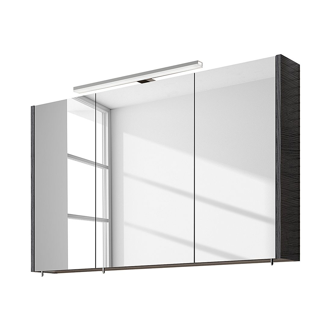 Spiegelschrank Rondino – Pinie-Anthrazit, 100 cm, Aqua Suite bestellen