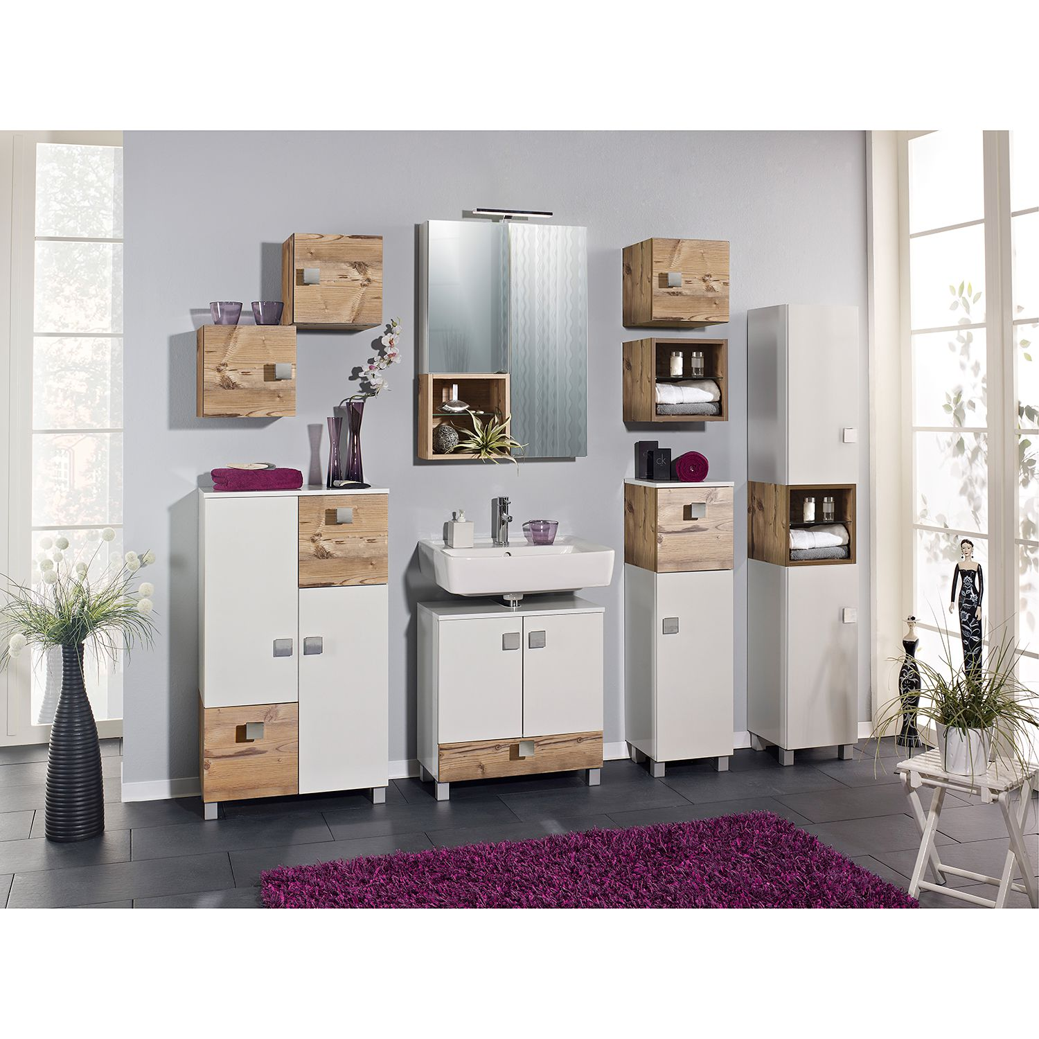 highboard toronto eint rig badezimmerschrank badschrank schrank badezimmer ebay. Black Bedroom Furniture Sets. Home Design Ideas