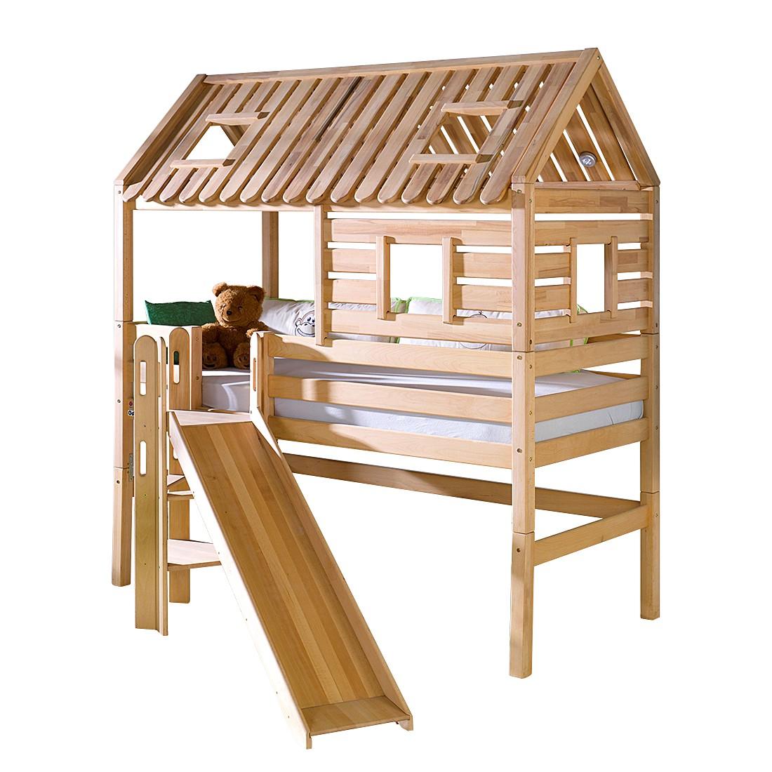 Spielbett Tom´s Hütte (mit Rutsche) - Buche massiv - geölt, Relita