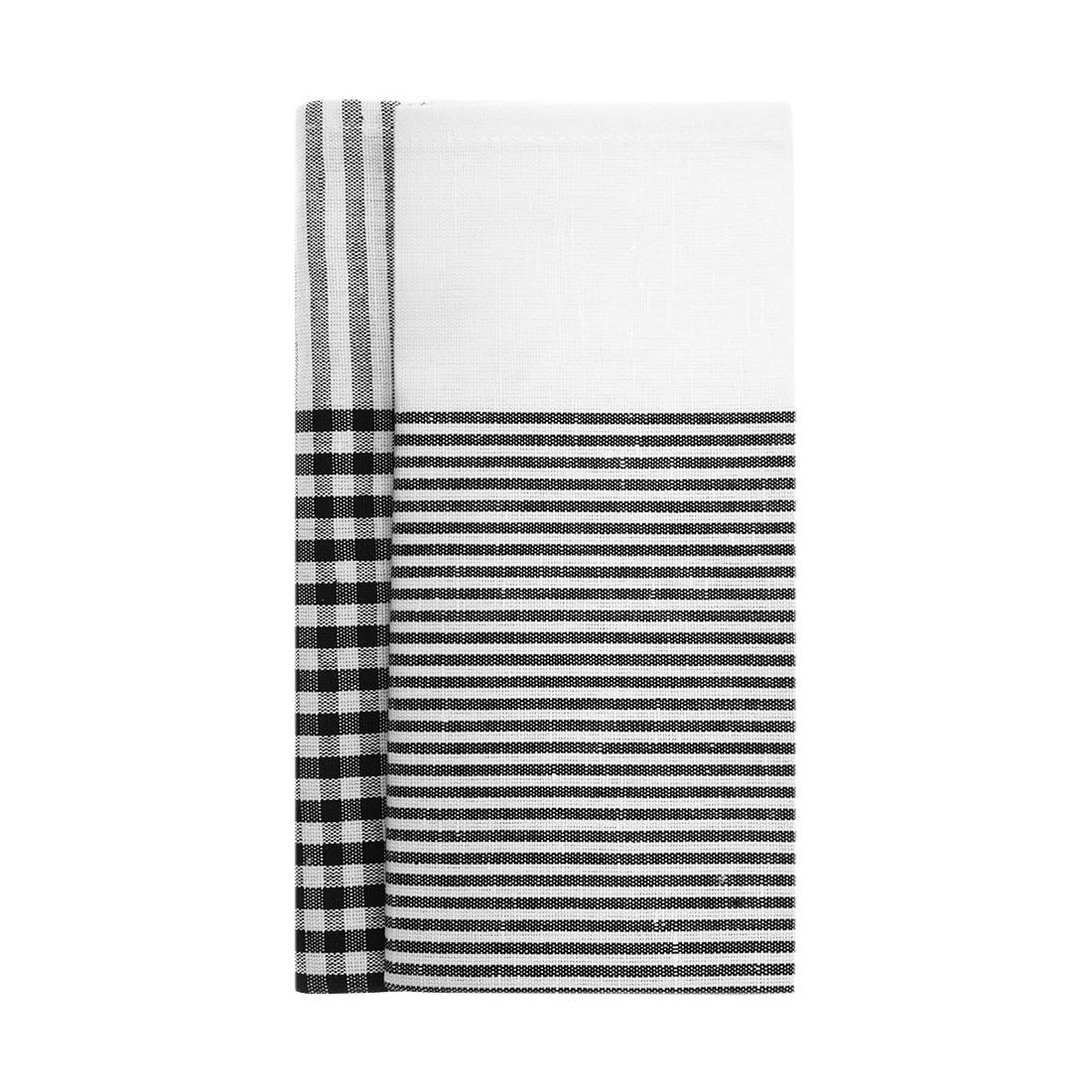Spültuch Rut & Rakel 47 x 70 cm 2er-Set – 55% Leinen, 45% Baumwolle Schwarz-Weiß, Himla online kaufen