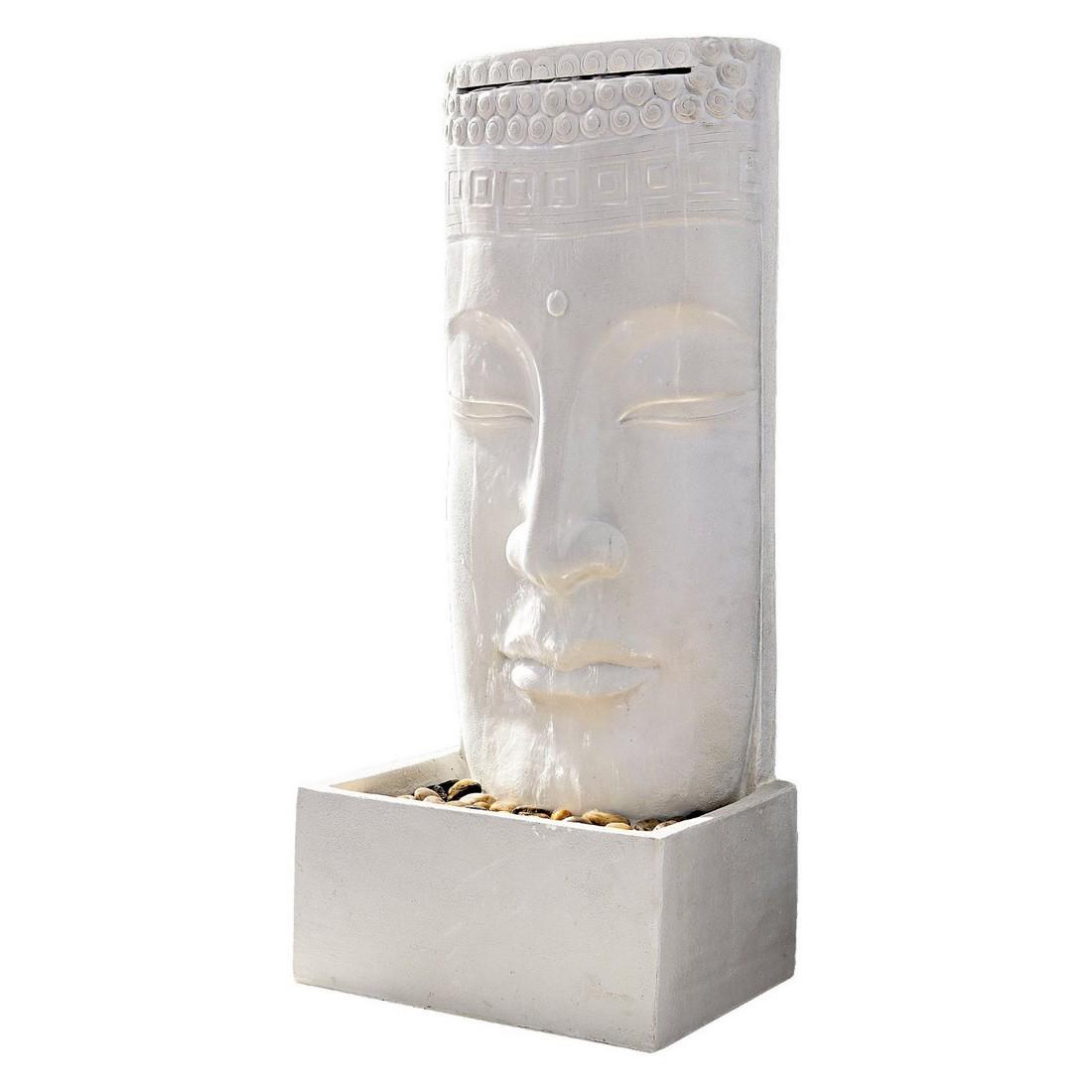Standbrunnen Buddha – Polyresin – Weiß, PureDay online bestellen