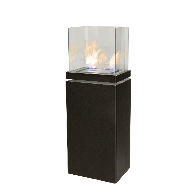 Standkamin High Flame - Stahl, pulverbeschichtet - Schwarz, Radius