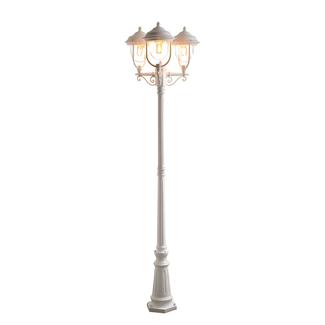 Standleuchte Parma ● Aluminium/Glas ● 3-flammig- Konstsmide A++