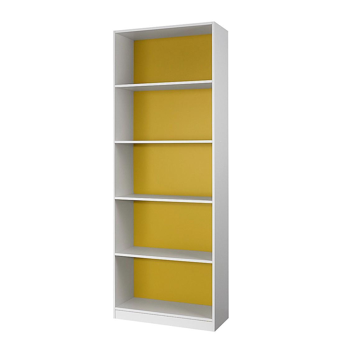 Standregal Saresa I – Weiß / Gelb, Rauch Pack´s kaufen