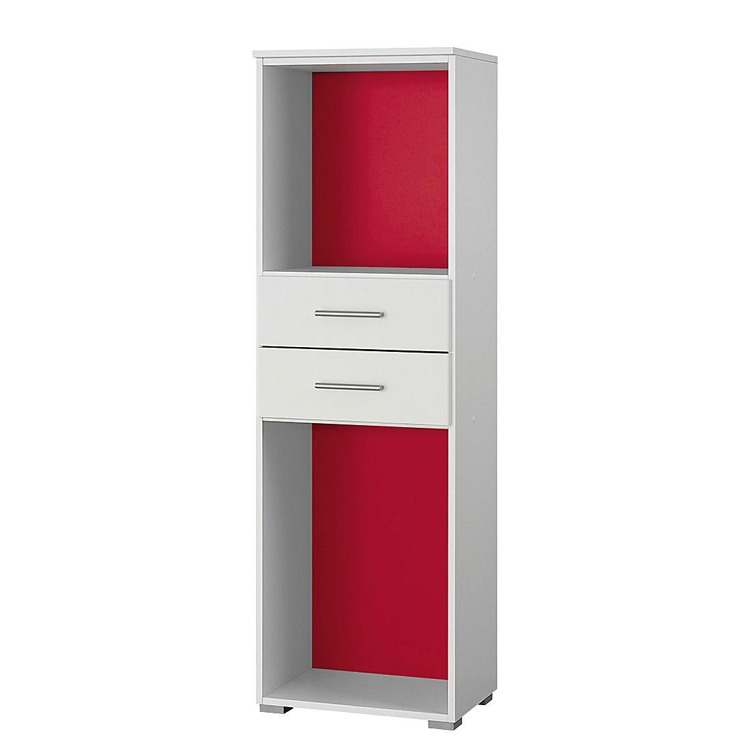 Standregal Saresa III – Weiß / Rot, Rauch Pack´s jetzt kaufen